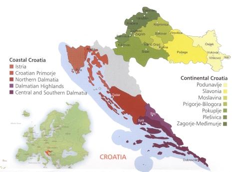 Hrvatska vinorodna podrucja vinogorja