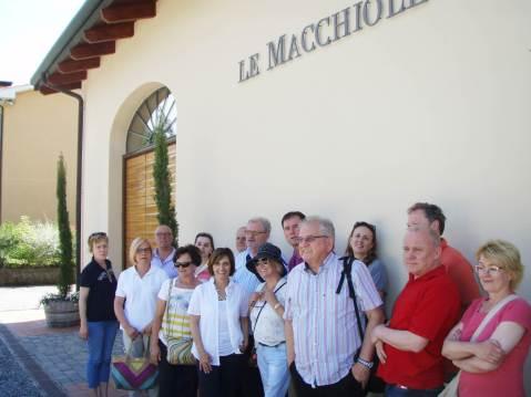 Ispred podruma Le Macchiole, s vlasnicom Cinzijom Merli