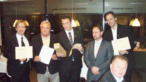 Dodjela odličja: Darko Lugarić, Franko Lukež, Siniša Lasan, Mario Meštrović i Predrag Čavić