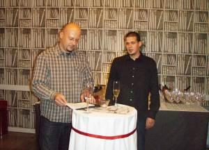 U Vinskoj čitaonici: Nenad Trifunović Vinopija i Ivan Salopek