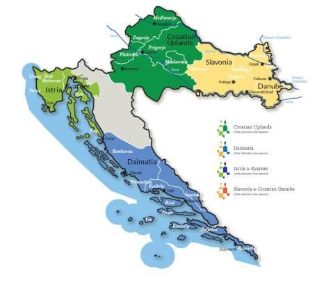 Hrvatske vinogradarske regije i zone 2016