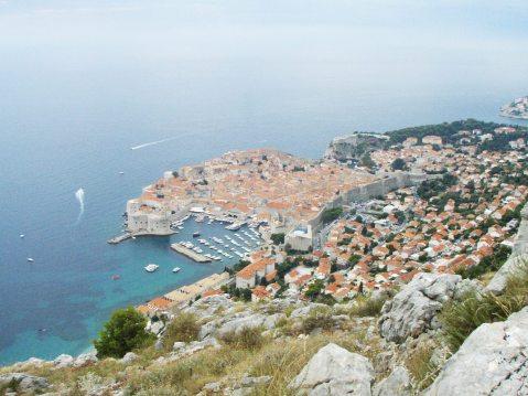 Dubrovnik s vrha Srđa