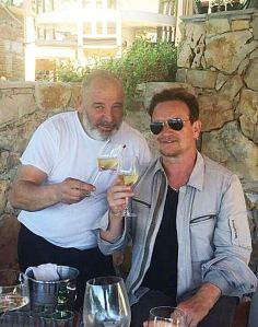 Chef Hrvoje Zirojević iz Laganinija na Palmižani i Bono Vox