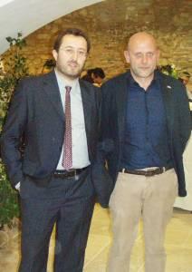 Andrea Natalini (desno) i gradonačelnik Montepulciana Rossi