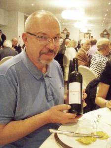 Vladimir Tsapelik, predsjednik Independent Wine Cluba u Rusiji, s jako dobrim ruskim crnjakom Renesans 2011