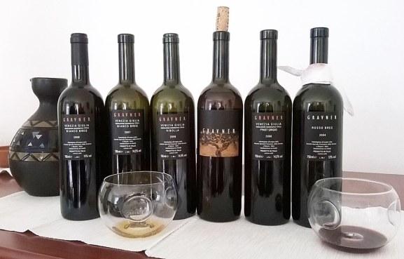 Paleta vina Joška Gravnera sada na tržištu: Ribolla gialla 2008, Bianco Breg 2008, Sivi pinot 2006, Rosso Breg (Pignolo) 2004, Rosso Rujno 2001 (Merlot 90 %, Cabernet sauvignon 10 %), te desertni '8 '9 '10