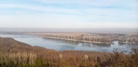 Pogled na Dunav s imanja Ive Brzice