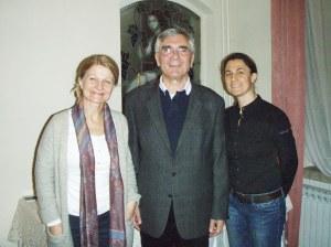 Domaćini u Erdutskim podrumima: Josip Pavić, Dunja Vukmirović i Melita Rumbak