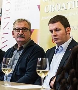 Vinko Ručević (desno), znani osječki vinotekar i organizator festivala WineOS, i Vlado Krauthaker, predsjednik udruge Graševina Croatica
