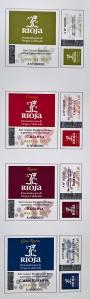 Markice Conseja regulador obvezne su na butelji s vinom označenime s nazivom Rioja: zelena govori o porijeklu te godini berbe i rabi se za mlada svježa jednogodišnja i dvogodišnja vina a može se naći i na bocama s vinima koja i na neki drugi način ne odgovaraju kategorijama crianza, reserva i gran reserva , crvena je za vina iz kategorije crianza, tamno-crvena prema gotovo ljubičastoj je za vina reserva, a plava za vina gran reserva
